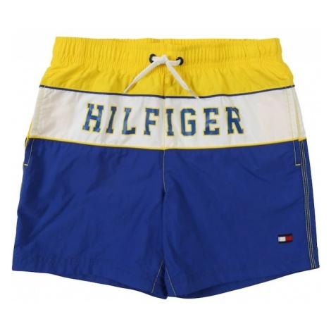 TOMMY HILFIGER Kąpielówki niebieski / żółty / biały