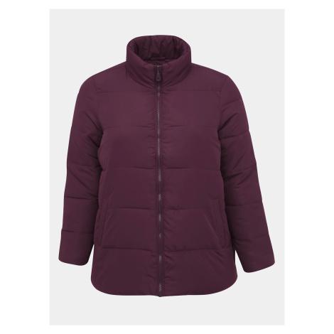 Bordowa pikowana kurtka zimowa Zizzi Selma -XXL