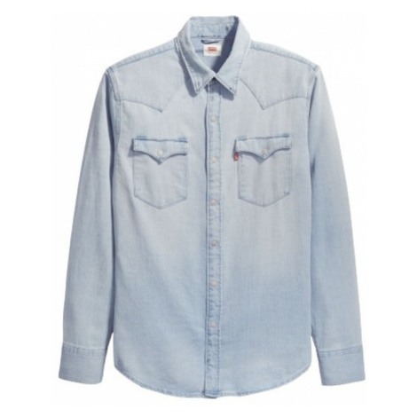Levi's, Barstow Western Cast Shirt Niebieski, male, rozmiary: Levi´s