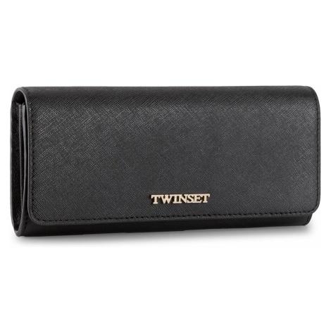 Duży Portfel Damski TWINSET - Portafoglio AS8PGT Nero 00006