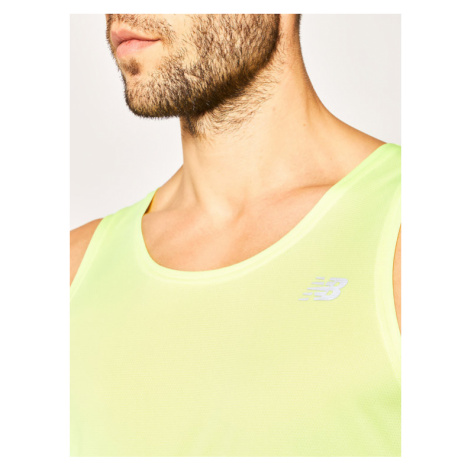 New Balance Koszulka techniczna Acclerate Singlet MT93183L Żółty Regular Fit