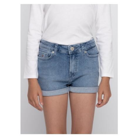 TOMMY HILFIGER Szorty jeansowe KG0KG04710 D Niebieski Regular Fit