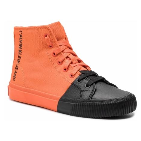 Sneakersy CALVIN KLEIN JEANS - Iridea R7778 Orangeade/Black