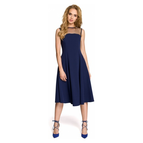 Made Of Emotion Woman's Dress M271 Navy Blue