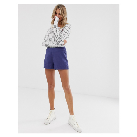ASOS DESIGN easy casual short with exposed zip