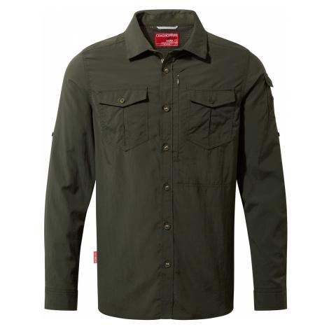 CRAGHOPPERS Koszula męska NOSILIFE ADVENTURE II-XL-Ciemna zieleń