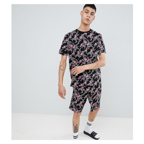 ASOS DESIGN pyjama set with shorts in floral print