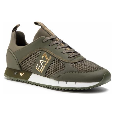 Sneakersy EA7 EMPORIO ARMANI - X8X027 XK050 N247 Grape Leaf/Gold Training