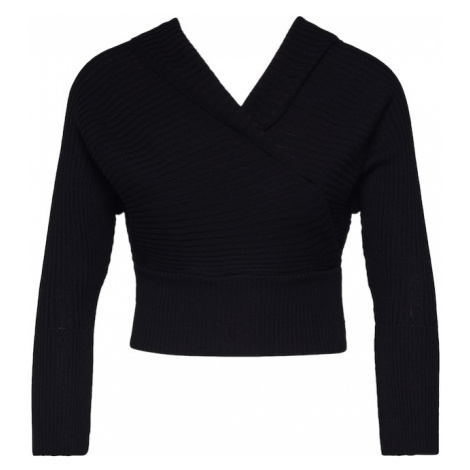 Missguided Sweter 'WRAP CROSSOVER' czarny