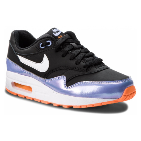 Buty NIKE - Air Max 1 (GS) 807605 003 Black/White/Twilight Pulse