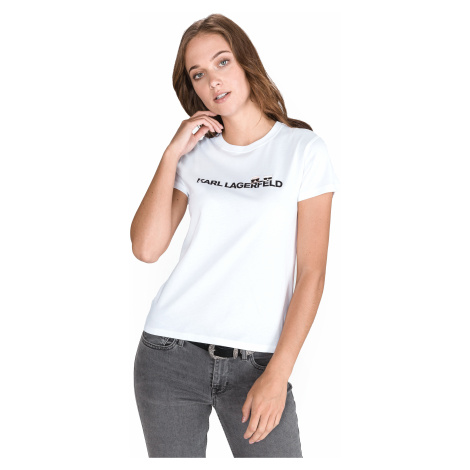 Karl Lagerfeld Ikonik Koszulka Biały