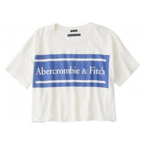 Abercrombie & Fitch Koszulka 'SB19-SS DROP SHOULDER LOGO TEE' biały
