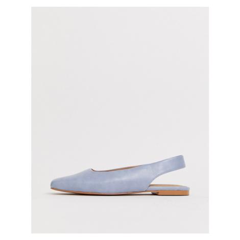 ASOS DESIGN Lorraine slingback ballet flats in blue