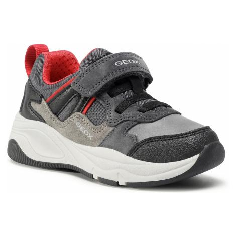 Sneakersy GEOX - J Tortona B. A J04CZA 02211 C0047 S Dk Grey/Red