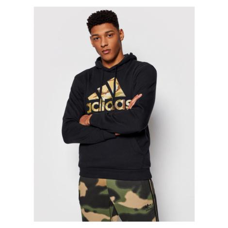 Adidas Bluza Essentials Camouflage GL0019 Czarny Regular Fit