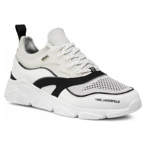 Sneakersy KARL LAGERFELD - KL51621 Mid Grey Lth/w/White