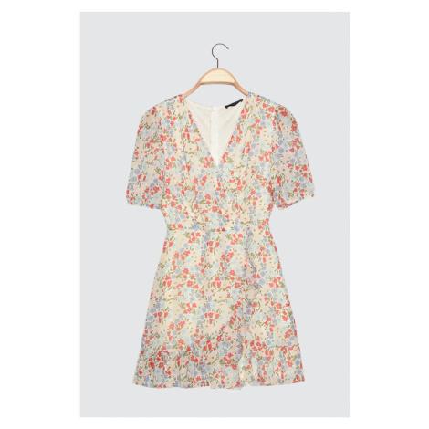 Suknia wycieczkowa Trendyol Ekru Petit