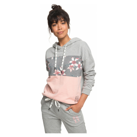 bluza Roxy Inside Cocoon Fleece - KPG6/Charcoal Heather Flower Field