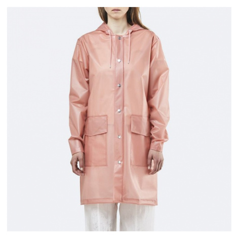 Płaszcz damski Rains Transparent Hooded Coat 1269 FOGGY CORAL