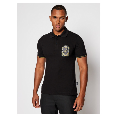 Versace Jeans Couture Polo B3GZB7T0 Czarny Slim Fit