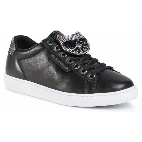 Sneakersy KARL LAGERFELD - KL61276 BlackLthr