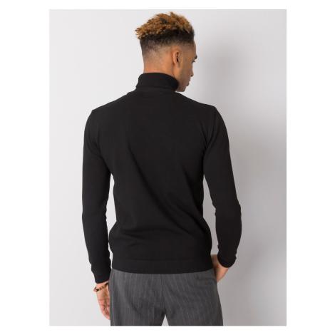 Czarny męski sweter z golfem LIWALI