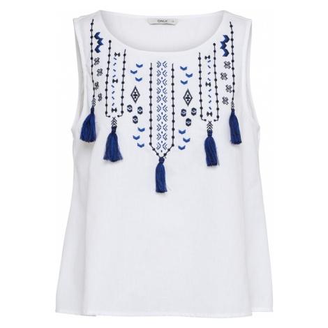ONLY Top 'SALLY' niebieski / biały