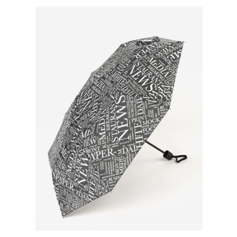 Black Patterned Folding Umbrella Derby