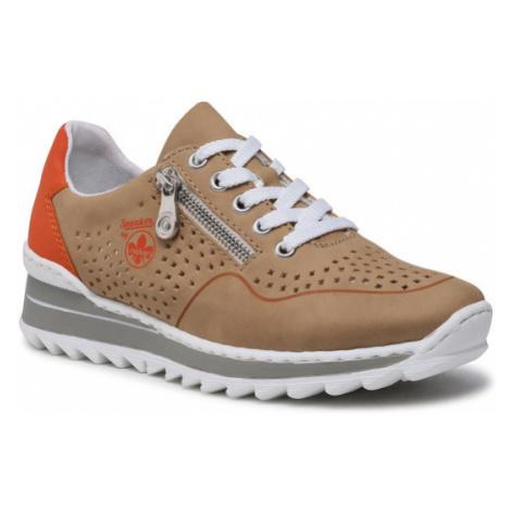 Rieker Sneakersy M6905-60 Brązowy