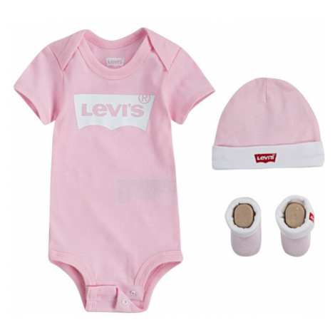 LEVI'S Śpiochy/body 'Classic Batwing Infant 3pc Set' różowy pudrowy Levi´s