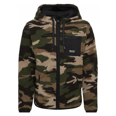 HOLLISTER Bluza rozpinana ciemnozielony / beżowy / jasnobrązowy / czarny