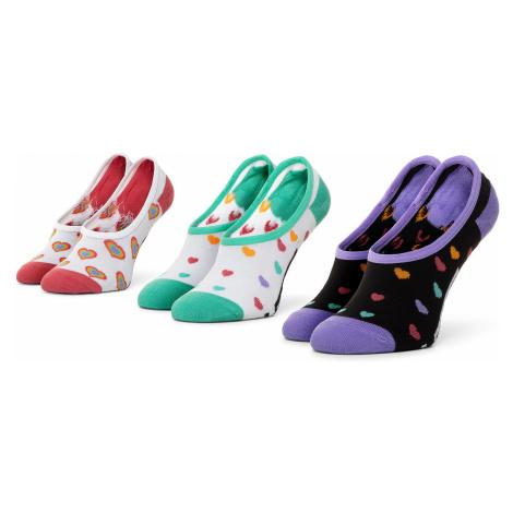 Zestaw 3 par stopek dziecięcych VANS - Wm Rainbow Hearts Canoodle VN0A4S7X4481 r.31,5-36 Multi