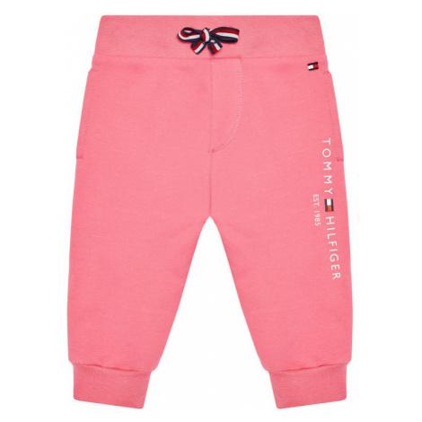 Tommy Hilfiger Spodnie dresowe Baby Essential KN0KN01281 Różowy Regular Fit