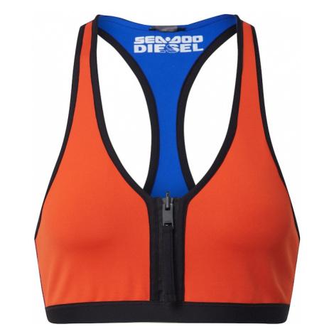 DIESEL Góra bikini pomarańczowy / niebieski