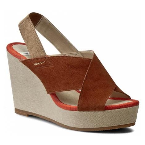 Sandały GANT - Stella 12563190 Cognac G45