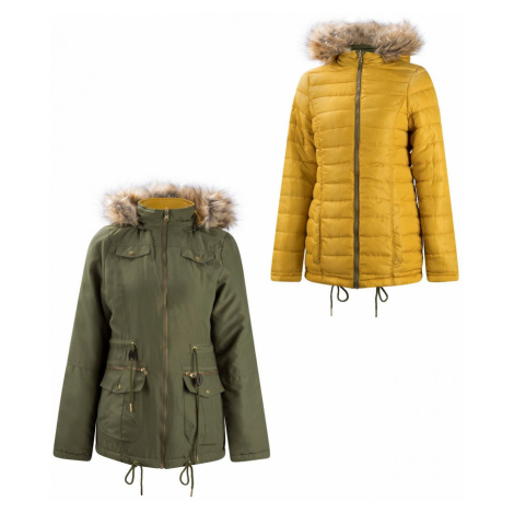 Lee Cooper Slim Padded Reversible Jacket Ladies