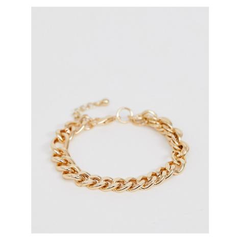 ASOS DESIGN mixed chain bracelet in gold tone