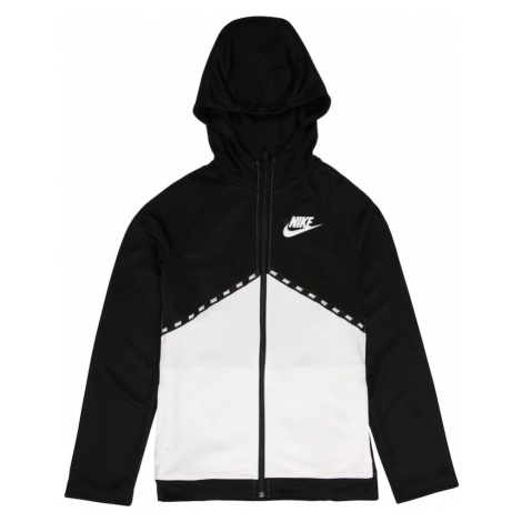 Nike Sportswear Bluza rozpinana biały / czarny
