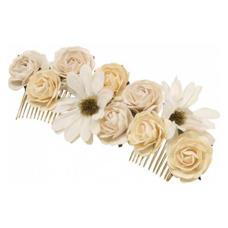 LILY AND ROSE Biżuteria do włosów 'Rosie' różowy pudrowy / kremowy