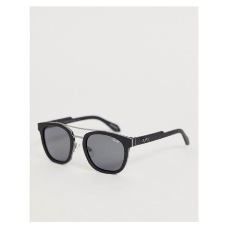 Quay Australia coolin round sunglasses in black