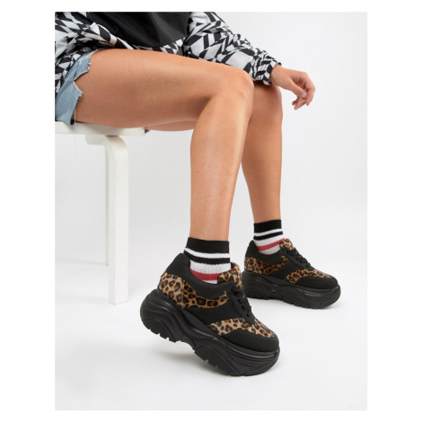 ASOS DESIGN Denial chunky trainers in leopard print