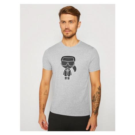 KARL LAGERFELD T-Shirt Crewneck 755080 502224 Szary Regular Fit