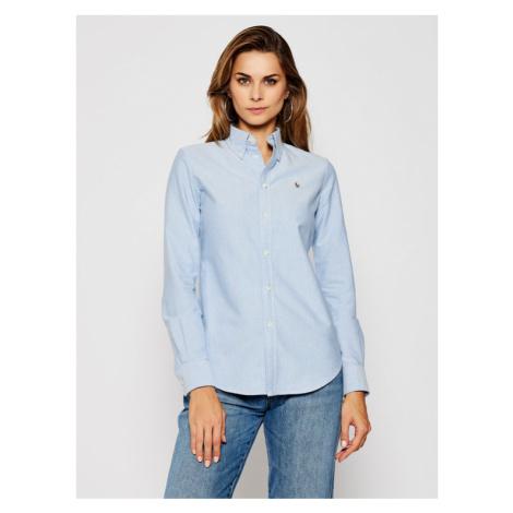 Polo Ralph Lauren Koszula Washed Oxford 211743355 Niebieski Slim Fit