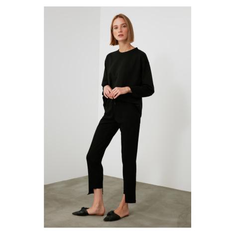 Trendyol Black Hem Asymmetric Binding Detailed Knitted Tracksuit bottom