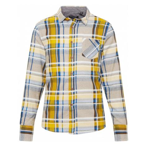 BRAVE SOUL Koszula 'Rooker' niebieski / czerwony / ecru / żółty