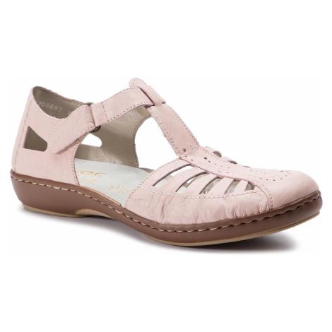 Sandały RIEKER - 45865-31 Rosa