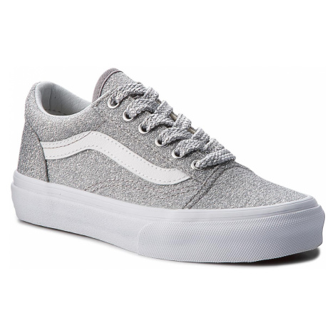 Tenisówki VANS - Old Skool VN0A38HBUAW (Lurex Glitter) Silver/Tr