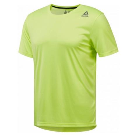 Reebok RUN SS TEE M jasnozielony S - Koszulka sportowa męska