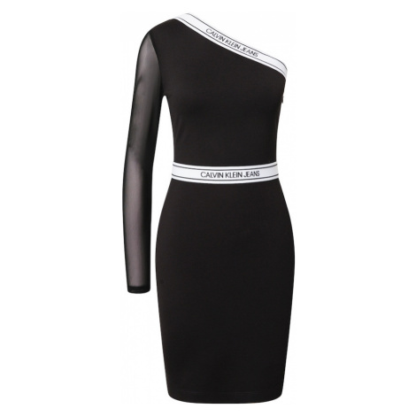 Calvin Klein Jeans Sukienka biały / czarny