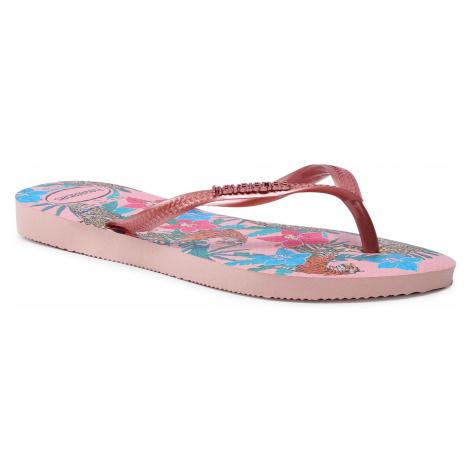 Japonki HAVAIANAS - Hav. Slim Tropical F 41221115977 Ballet Rose/Pink